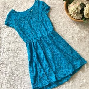 Coincidence + Chance Blue Lace Dress